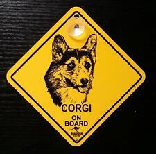 12cm roadsign bouclier avec ventouse CORGI danger chien