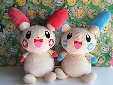 "Pokemon Plush Plusle & Minun Set 13"" Heartland Big stuffed Bean Bag Doll figure"