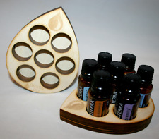 Essential Oil Wooden Box Teardrop Storage Tray Case Holder Display DoTERRA 15ML