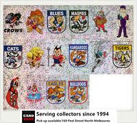 POPULAR-1999 Select AFL Stickers Foil Mascot Set (8)