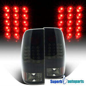 For 2008-2016 Ford F250 F350 F450 F550 Black Smoke LED Tail Lights Lamps Pair