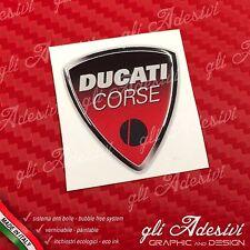 1 Adesivo Resinato Sticker 3D Ducati Corse Old 40 mm