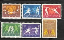 Poland 1963 28Th World Fencing Championships Sc # 1146-1151 Mnh