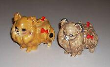 2 Vintage Josef Originals Ceramic Pomeranian Dog & Mold Figurines