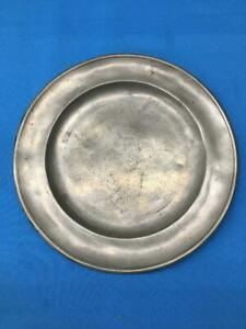 "Antique American Pewter 8""Plate 1812-1817 by Blakeslee Barns, Philadelphia"