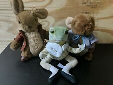 PETER RABBIT plush Lot Eden Frog  Benjamin and Peter Rabbit VINTAGE
