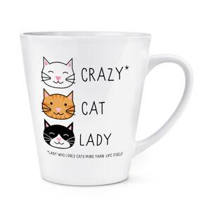 CRAZY CAT LADY 12OZ LATTE MUG CUP - Kitten Animal Funny Novelty Tea Coffee