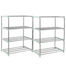 3-8 Tier Metal Shoes Rack Stand Storage Organizer Shelf Holder Stackable Closet