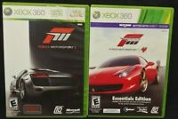 Forza Racing 3 + 4 Motorsport Race  XBOX 360 2 GAME Lot Tested + Complete