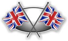 Drapeau de l/'Union Jack The Who-Porte-clés en cuir avec un Dôme Autocollant