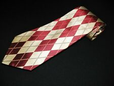 New Tino Cosma Tie Red White Plaids Patch Work Woven Italian Jacquard Necktie