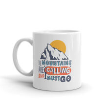 The Mountains are Calling Mug - Ski Snowboard Skiing Snowboarding Gift #10705