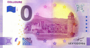 66 COLLIOURE Palais des Rois de Majorque, 2021, Billet Euro Souvenir