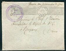 France - Enveloppe en FM du Détachement de prisonniers de St Martin d'Héres 1917