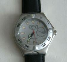 Herren Werbeuhr Armbanduhr in schwarz Firmenlogo Langnese NEU
