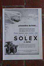 Ancienne publicité presse 1932 - CARBURATEUR SOLEX A STARTER