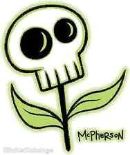 Mini Size Skull Flower Sticker Decal Tara Mcpherson TM9B