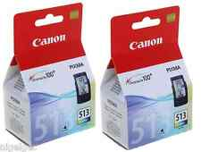 2 x Canon CL513 CL-513 COLORE Pixma MX320 MX330 IP2702 Originale Cartucce di inchiostro
