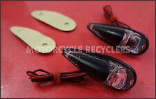 Custom MOTORCYCLE INDICATORS   CLEAR LENS   TEARDROP FLUSH MOUNT   PAIR 60mm TWO