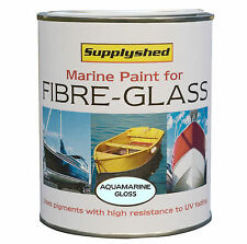 SUPPLYSHED Marine Boat Gloss AQUAMARINE Paint for Fibreglass and GRP 750ml