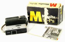 MINOLTA 16PS W/ CASE, TRIPOD MOUNT, BOX, & FILTER SET
