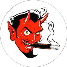 IMAN/MAGNET DEVIL HEAD . coop gearhead big daddy roth juxtapoz art kozik