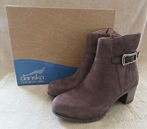 DANSKO Hartley Chocolate Nubuck Leather Boots Shoes US 9.5 - 10 M EUR 40 NWB
