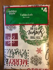 Hoilday Style Rectangle Christmas Tablecloth