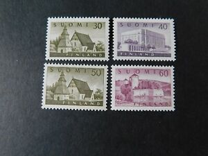 """FINLAND - 1956 """" FINNISH SCENES FOUR VALUES ONLY """" Lightly Hinged. SG.554/557."""