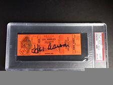 Hank Aaron Autographed, 1967 Atlanta Braves Home Run #473, Full Ticket, PSA