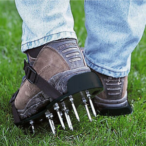 UK 29x 13cm Spikes Pair Lawn Garden Grass Aerator Aerating Sandals Shoes