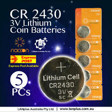 5 x CR2430 3V Lithium Battery STOCK IN Melbourne Button Coin Cell CR-2430