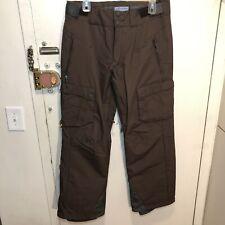 Salomon Clima Pro Men's M Ski Snowboard Cargo Pants Brown Adjustable