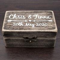 Wedding Ring Box Rustic Vintage Wedding Ring Holder Custom Wood Ring Bearer Box