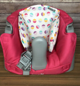 Summer Infant  Floor Seat With Straps Infant Baby Chair W/ Buckles Gray n Pink