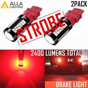 LED 3157 STROBE Brake Light Brake Light Bulb fo Probe Civic Prelude,Safety Alert