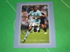 ROBINHO firmato & MONTATO Manchester City FC Stagione 2008/2009 azione Fotografia