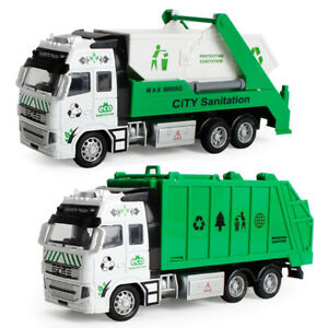 Giant Alloy Kids Toy Dump Garbage Interactive Truck Vehicle Model Birthday Gift