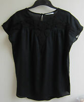 MANGO EMBROIDERED BLOUSE TOP  BLACK OR OFF-WHITE BNWT SIZES XS,S,M,L,XL