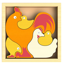 BeginAgain - Chicken Family Puzzle, Help Build Creativity, Imagination and 5 Set
