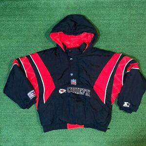 Vintage NFL Pro Line Starter Kansas City Chief Pullover Puffer Jacket - Youth M