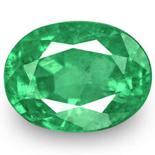 ZAMBIA Emerald 0.88 Cts Natural Untreated Lustrous Green Oval
