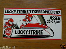 STICKER,DECAL DUTCH TT ASSEN 1987 LUCKY STRIKE SPEEDWEEK 1987 ASSEN 22-27 JUNI