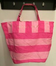NWT Victoria's Secret Pink Stripe Shopping School Sports Tote Purse Gym Bag