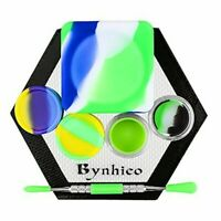Bynhieo Non-stick 37ml Cube wax jars+5ml Silicone Container 2pc+Acrylic Silicone