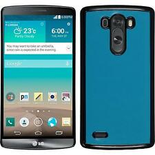 Hardcase for LG G3 leather optics turquoise Cover + protective foils