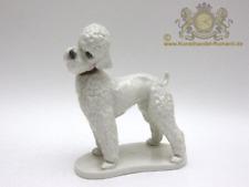 Aelteste Volkstedt Porzellan Figur Tierfigur als Pudel