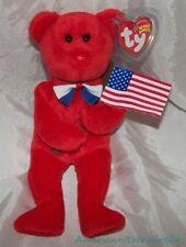 "NEW HTF 2004 TY Beanie Babies Plush Red 9"" THOMAS JEFFERSON The PATRIOTIC BEAR"