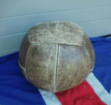 SHABBY CHIC ANTIQUE VINTAGE GYM LEATHER GYMNASIUM LARGE MEDICINE BALL