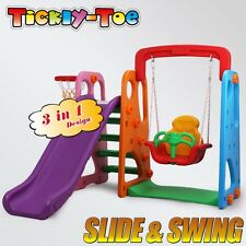 Slide & Swing Basketball Children Activity Center Indoor Outdoor Play Toys Set P